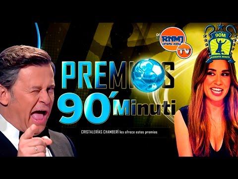 Premios 90 Minuti 2016 Real Madrid TV Miki Nadal y María Gómez