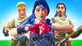 PROTECTING The WORST DEFAULT SKIN SQUAD in Fortnite Battle Royale