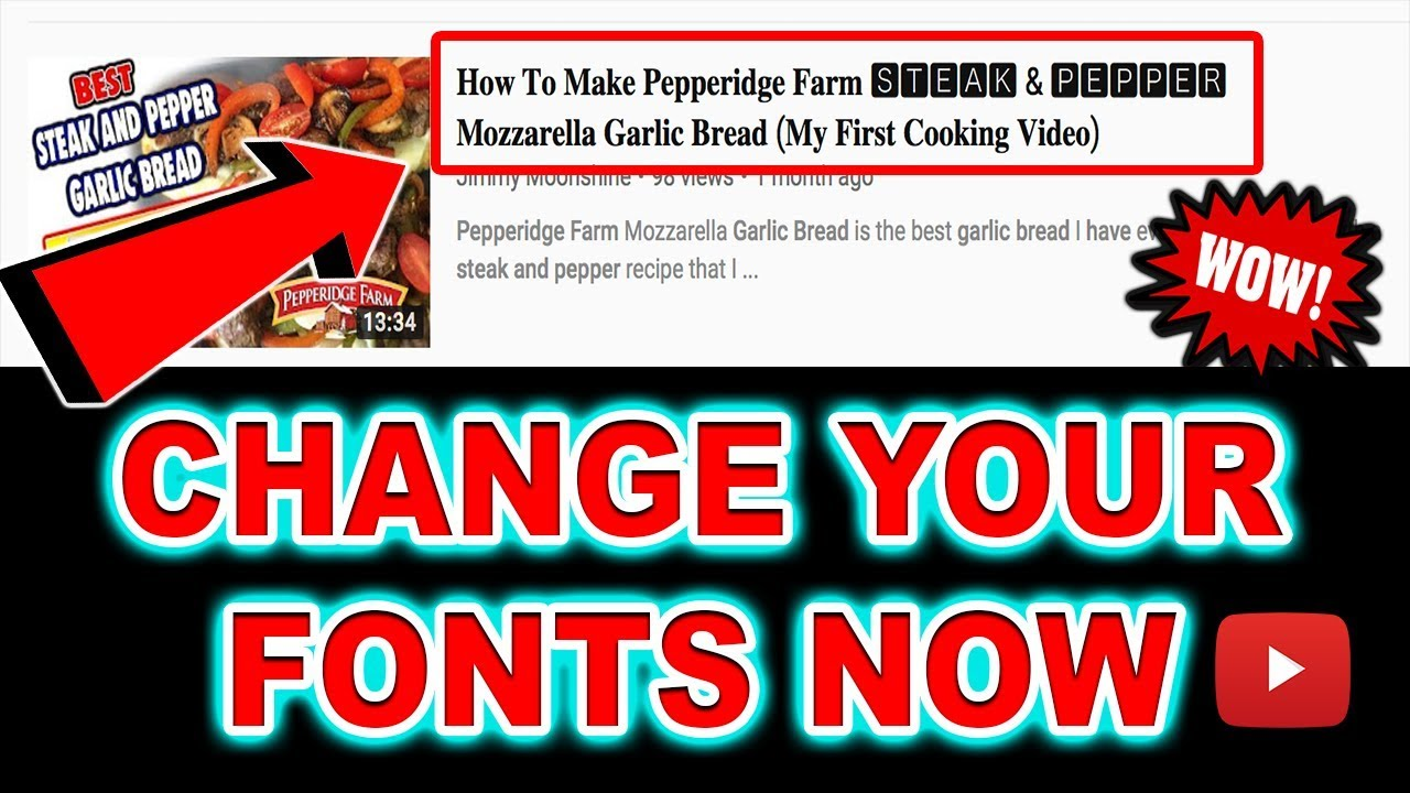 2019 HOW TO CHANGE YOUR YOUTUBE TITLE FONTS (𝗛𝗼𝘄 𝗧𝗼 𝗖𝗵𝗮𝗻𝗴𝗲  𝗬𝗼𝘂𝗿 𝗙𝗼𝗻𝘁𝘀 𝗢𝗻 𝗬𝗼𝘂𝘁𝘂𝗯𝗲) 🅢🅤🅟🅔🅡 🅔🅐🅢🅨