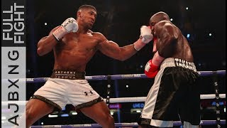 28th October 2017 | Anthony Joshua won on TKO against Carlos Takam,...