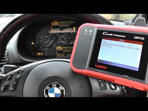BMW EML Light On Fault Codes Found Launch CRP123