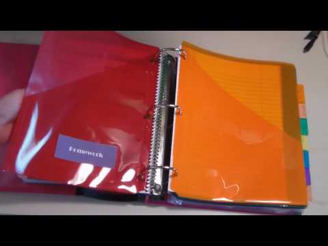 Creating a School Binder