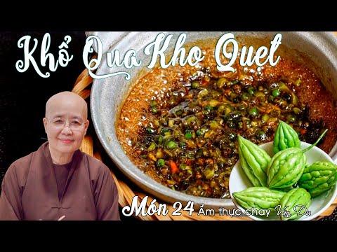 Sư cô Tuệ Vân hướng dẫn làm KHỔ QUA KHO QUẸT món ăn cực bắt CƠM | Ẩm thực chay Vân Du