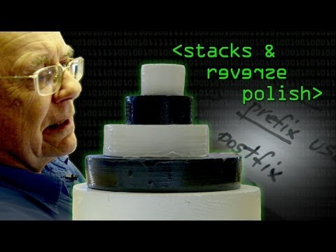 Reverse Polish Notation and The Stack - Computerphile