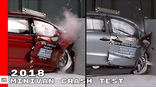 2018 Chrysler Pacifica vs Toyota Sienna vs Honda Odyssey Minivan Crash Test