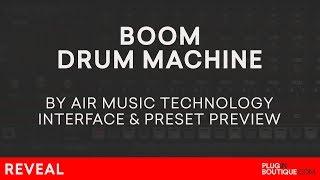 Boom VSTAUPlugin | Air Music | Classic Analogue Drum Machine Presets | 808 909 CR78 606