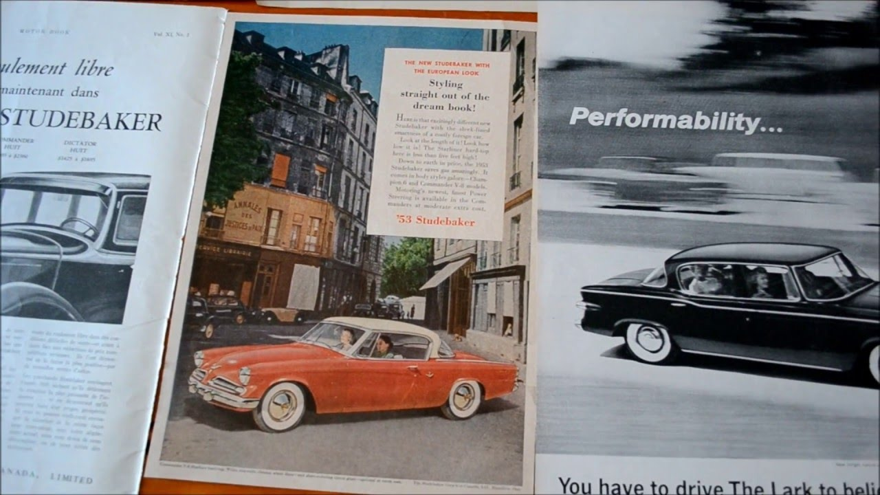 VINTAGE STUDEBAKER ADS FOR SALE - 50s & 60s MOSTLY - YouTube