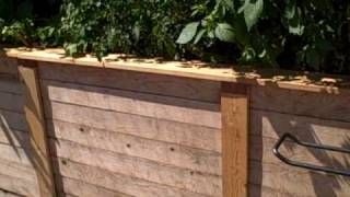 Cedar Raised Bed Trim Edging With Built In Copper Slug Snail Control