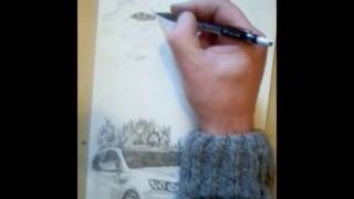 Basketball star Blake Griffin  speed drawing slam dunk over car part 1