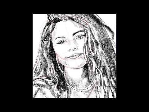 How to draw Selena Gomez