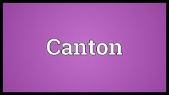 Canton Meaning