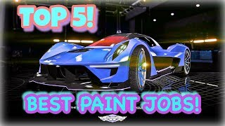 TOP 5 AWESOME PAINT JOBS FOR THE NEW DEWBAUCHEE VAGNER! { CINEMATIC}(GUNRUNNING DLC)