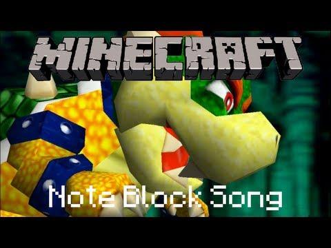 Minecraft Note Block Song Super Mario Bros Bowser S Castle