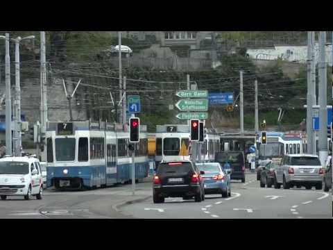 Streetcars at the main station Zurich 1