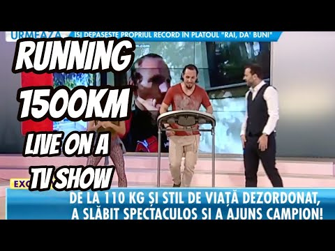 Running 1500 Km Live on a TV Show -Record Breaking