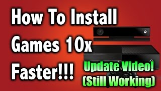 How to install games 10x Faster On the Xbox One 2018 -Update Video- (Disc Only)