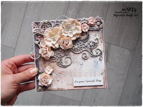 Mixed Media Vintage Style Card Tutorial