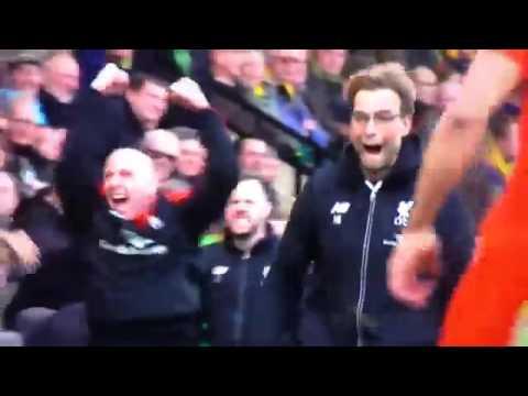 Jürgen Klopp funny Celebration |  Norwich 4:5 Liverpool