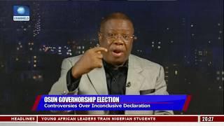 Osun Election: INEC's Declaration Does Not Make Sense - West Idahosa Pt.2  Politics Today 