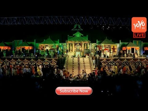 Ayyappa Swamy Maha Vaibhava Padi Pooja Live at NTR Stadium Hyderabad | Padipuja 108 | YOYOTV Channel