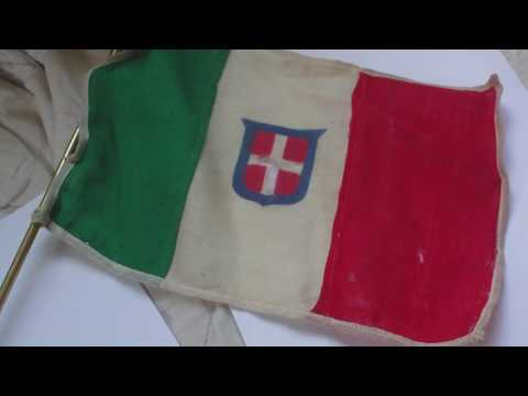 WORLD WAR TWO KINGDOM OF ITALY CIVIL FLAG ENSIGN