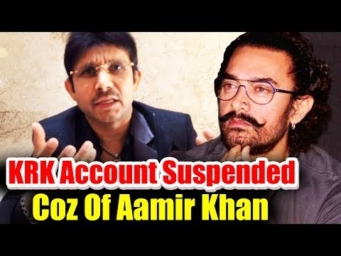 Breaking - KRK Account Suspended For Writing Against Aamir Khan