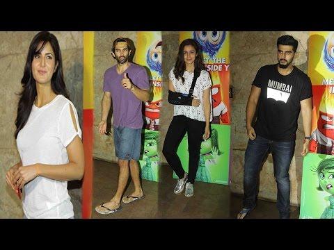 Ranbir Kapoor And Katrina Kaif Enjoy Movie Inside Out With Alia Bhatt And Arjun Kapoor