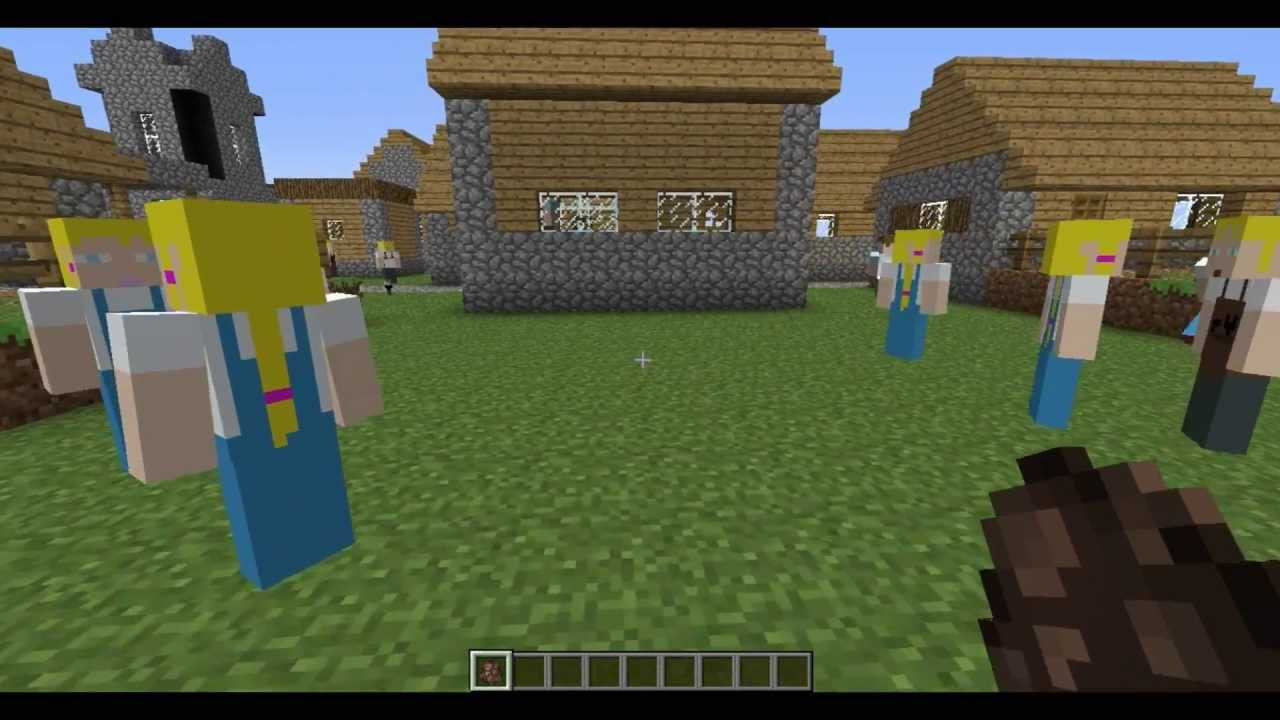 Minecraft Mod Review Change Your Villagers To Any Skinminecraft - Villager skin fur minecraft pe