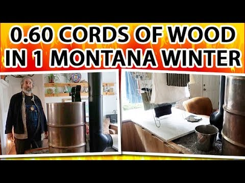 Heat a 3-Bedroom Home in Montana with 0.60 cords of firewood - a Pebble Style Rocket Mass Heater