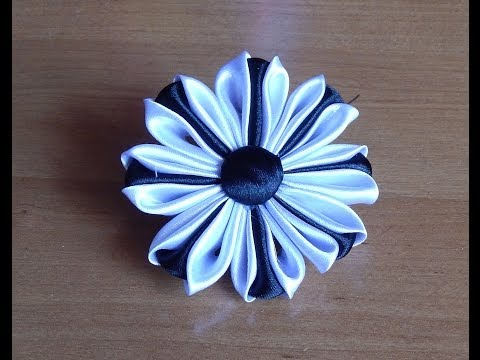 Обучающие уроки по созданию цветов из лент в технике канзаши