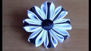 Цветы из атласных лент. Канзаши. DIY Kanzashi Flowers