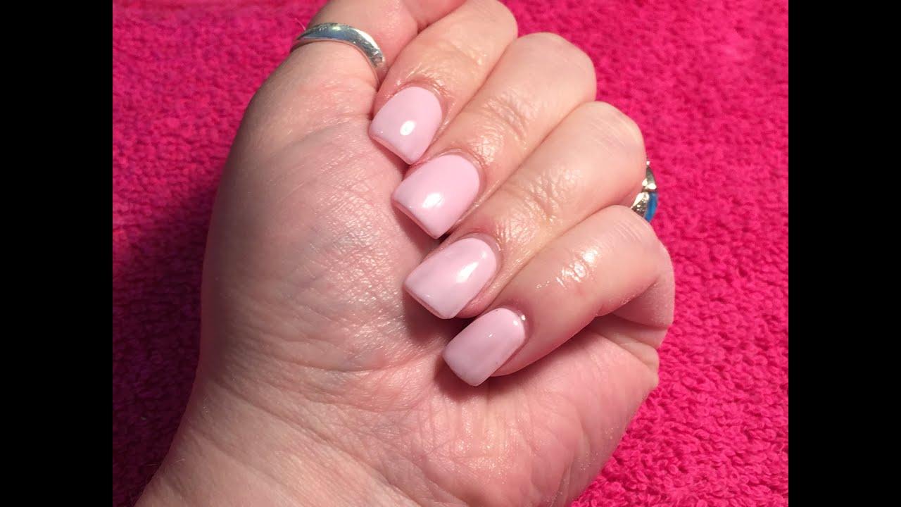 Acrylic Nails short with gel polish, brillbird and thornsbeauty igel ...