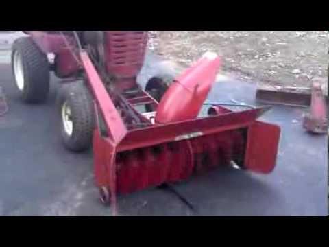 wheel horse snow blower
