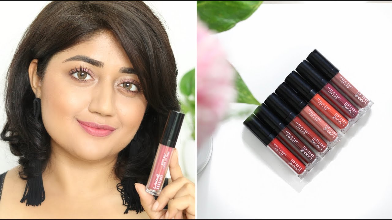 Lakme Absolute Matte Melt Lipcolor Swatches Corallista Youtube