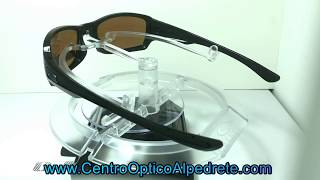 82ae033d5a7d1 Oakley Fives Squared Polished Black   Prizm Shallow Water Polarized  (OO9238-18) ...