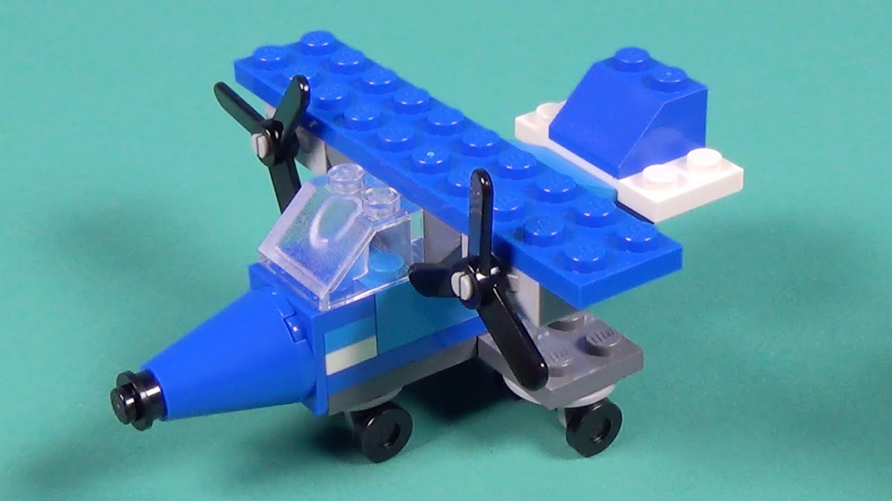 Lego propeller plane building instructions lego classic for Lego classic house instructions