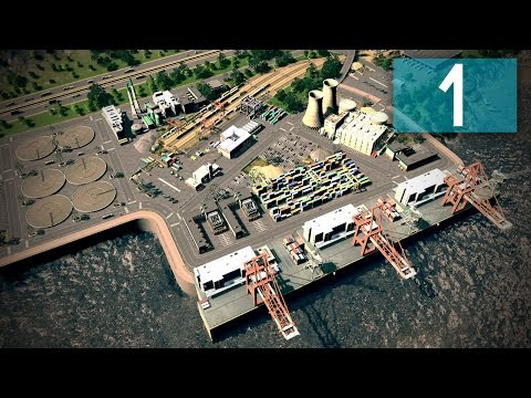 Cities Skylines: Ferrisburgh Part 1 - Chester Suburbs & Harbor!