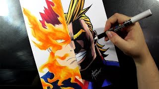 Speed Drawing - ENDEAVOR | ALL MIGHT [BOKU NO HERO ACADEMIA]
