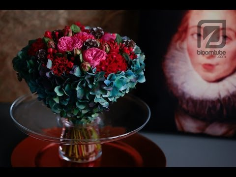 How to make a floral arrangement Winter trend