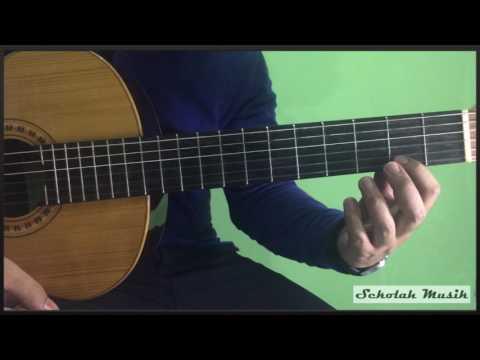Tutorial Chord Gantung Kunci Balok Mayor di Gitar
