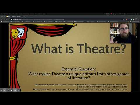 What is Theatre(er)? Video Lecture - Theatre 1