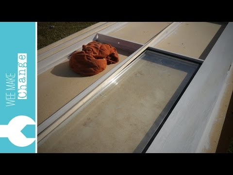 How To Replace Single Glazing With Double Glazing In A Door Or Window 'Tiny House Project'