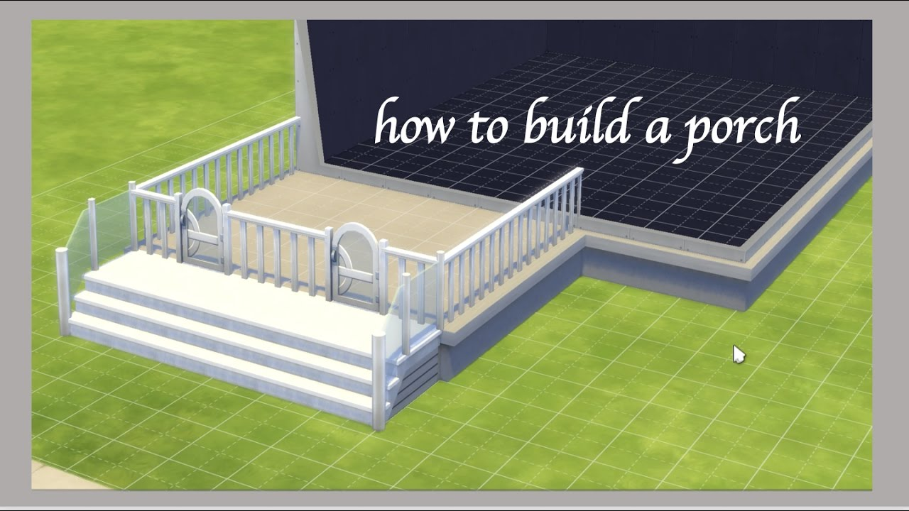How to build a porch on sims 4 youtube solutioingenieria Image collections