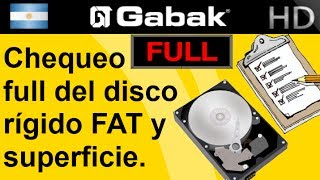 Chequeo full del disco rigido  FAT (File Allocation Table) y superficie.(hdd regenerator)