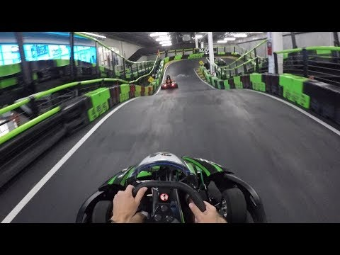 Racing Electric Go Karts At 35 MPH! | Andretti Indoor Kart &