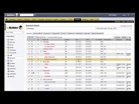 e-Builder: Construction Schedule Planning & Progress Tracking