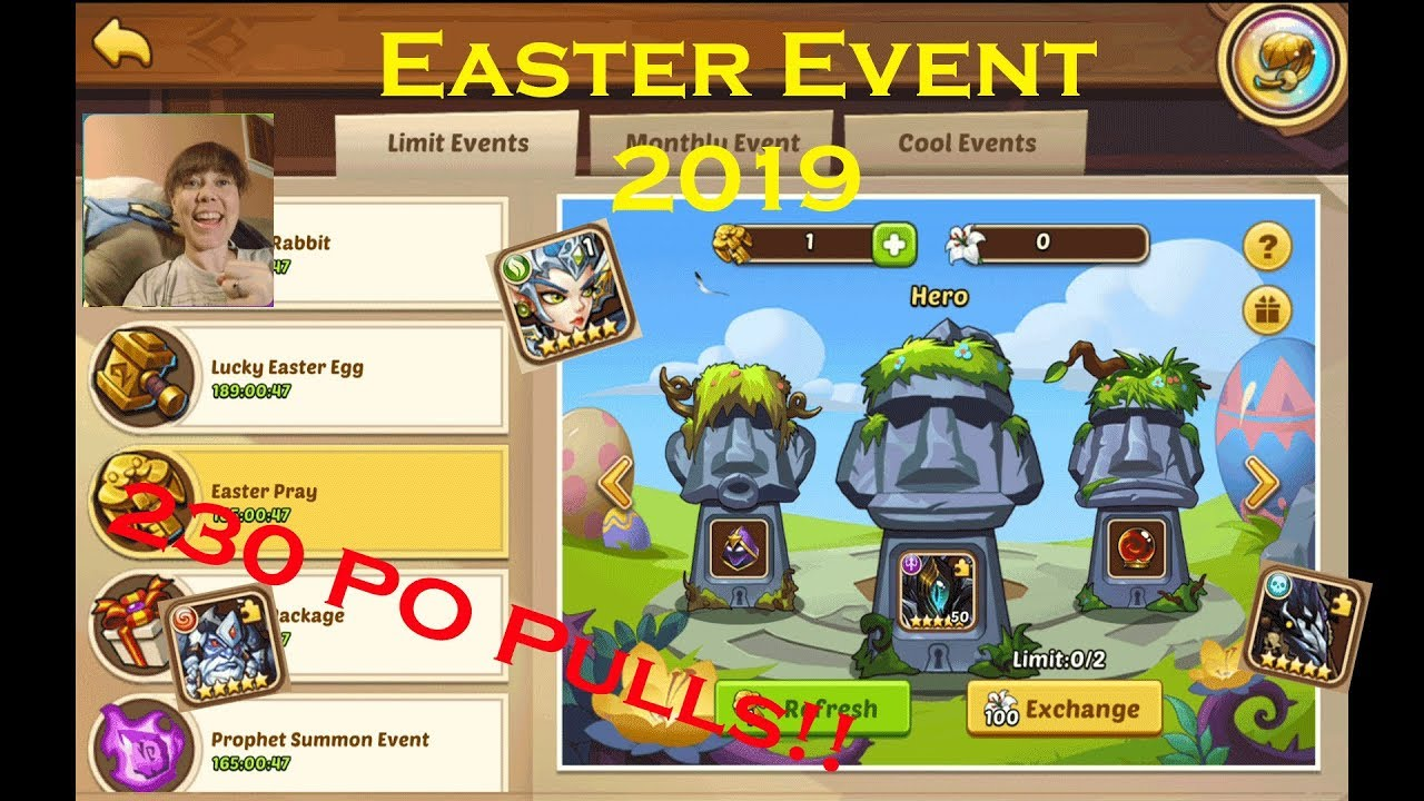 230 Prophet Orb Pulls in Idle Heroes!! - Easter Event April 2019 - Aureolin  Heartrate Gaming