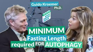 Minimum fasting length required for autophagy | Guido Kroemer