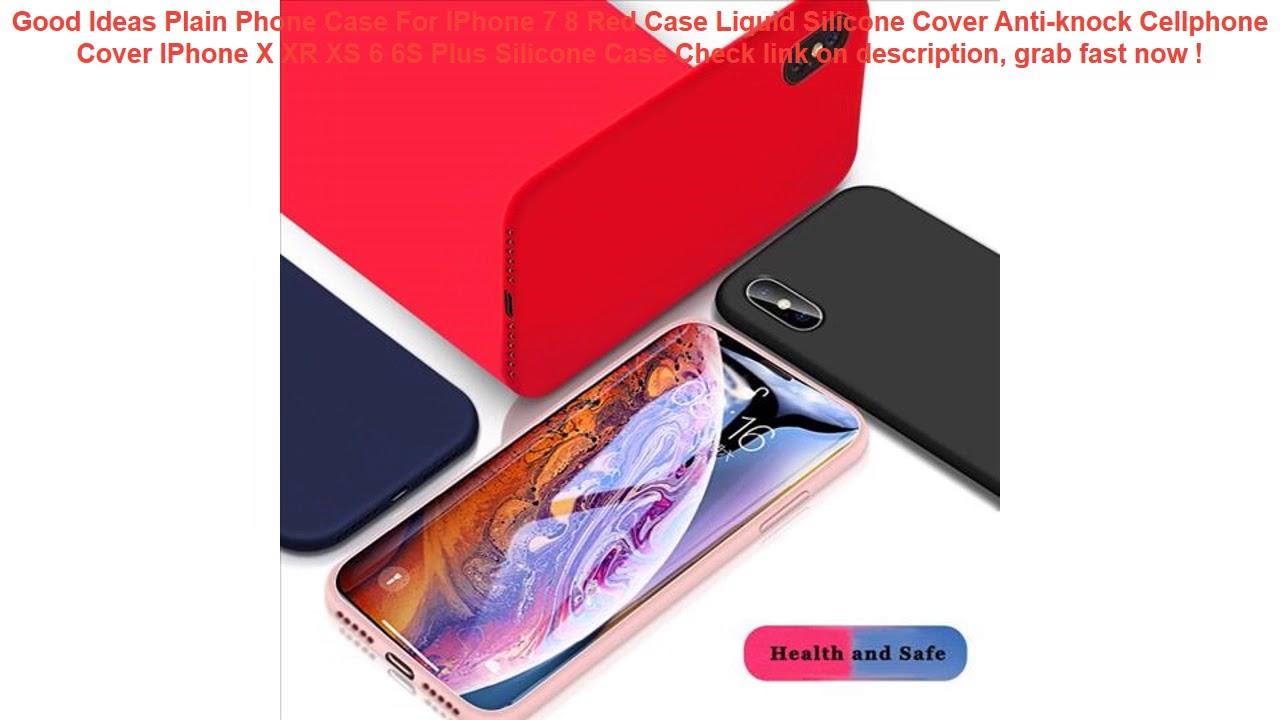 Plain Phone Case For IPhone 7 8 Case Liquid Silicone Cover Anti