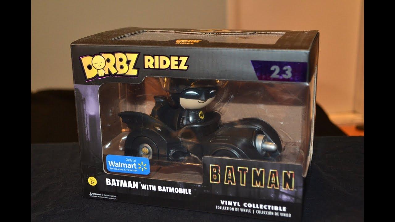 Funko Dorbz Ridez Batman V Superman Batmobile Collectable Vinyl Figure Boxed